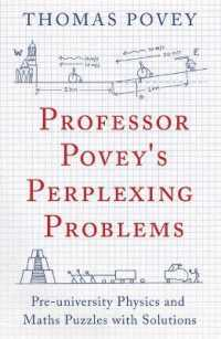 Link to an enlarged image of Professor Povey's Perplexing Problems : Pre-University Physics and Maths Puzzles with Solutions