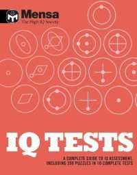 Link to an enlarged image of Mensa: Iq Tests : A Complete Guide to Iq Assessment -- Paperback / softback