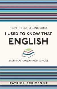 Link to an enlarged image of I Used to Know That : English