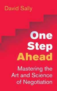 image of One Step Ahead : Mastering the Art and Science of Negotiation -- Paperback / softback