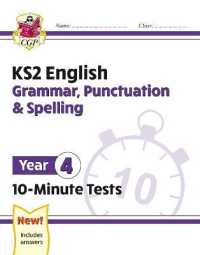 Link to an enlarged image of New Ks2 English 10-minute Tests: Grammar, Punctuation & Spelling - Year 4 -- Paperback / softback