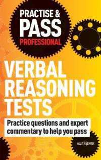 Link to an enlarged image of Practise & Pass Professional: Verbal Reasoning Tests (Practise & Pass Professional) -- Paperback / softback