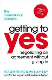 Link to an enlarged image of Getting to Yes : Negotiating an agreement without giving in -- Paperback / softback