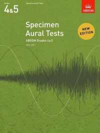 Link to an enlarged image of Specimen Aural Tests, Grades 4 & 5 : new edition from 2011 (Specimen Aural Tests (Abrsm)) -- Sheet music