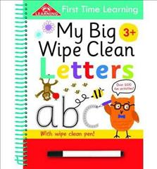 Link to an enlarged image of First Time Learning Wipe Clean-letters : Spiral Bound -- Spiral bound