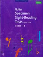 Link to an enlarged image of Guitar Specimen Sight-reading Tests, Grades 1-8 -- Book