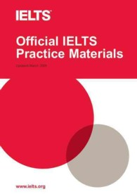 Link to an enlarged image of Official IELTS Practice Materials 1 with Audio CD.