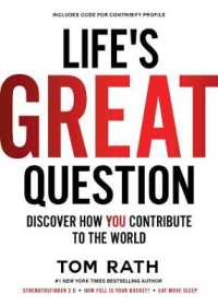 Link to an enlarged image of Life's Great Question : Discover How You Contribute to the World (Hardcover + Pass Code)