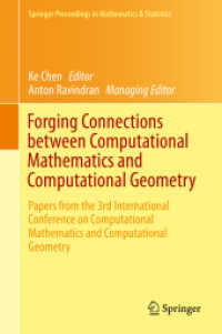 Link to an enlarged image of Forging Connections between Computational Mathematics and Computational Geometry : Papers from the 3rd International Conference on Computational Mathematics and Computational Geometry (Springer Proceedings in Mathematics & Statistics .124) (2015. 2015. x, 290 S. 66 SW-Abb., 20 Farbabb.,. 235 mm)