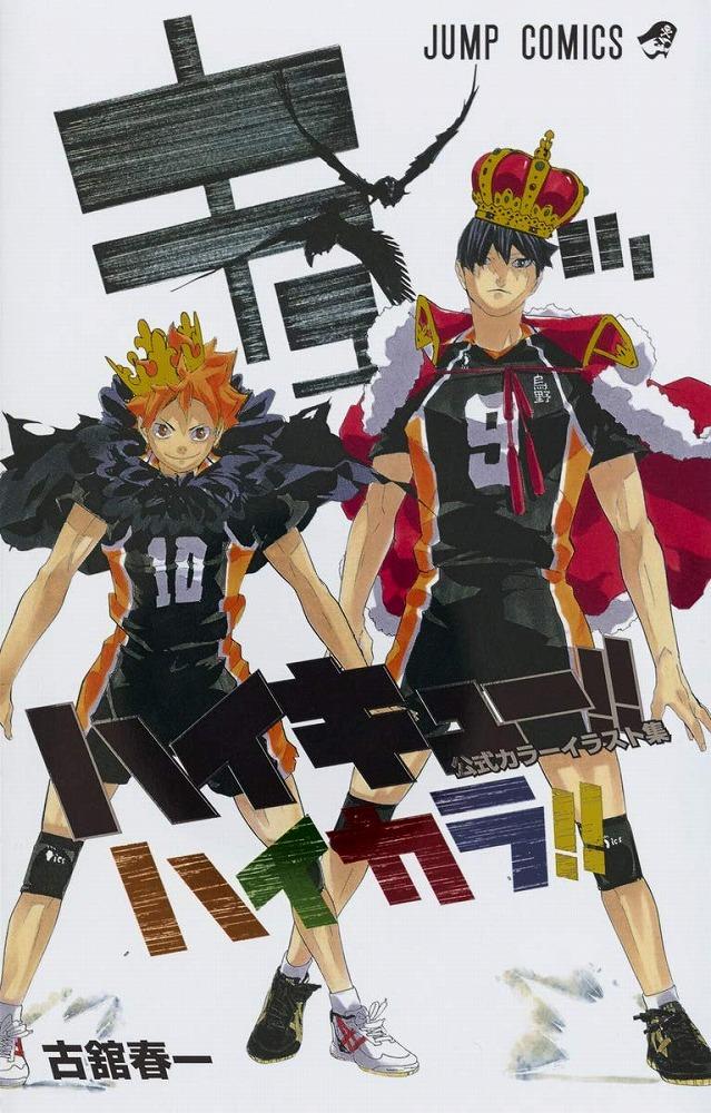Link to an enlarged image of ハイキュ−!!公式カラ−イラスト集ハイカラ!! (ジャンプコミックス)