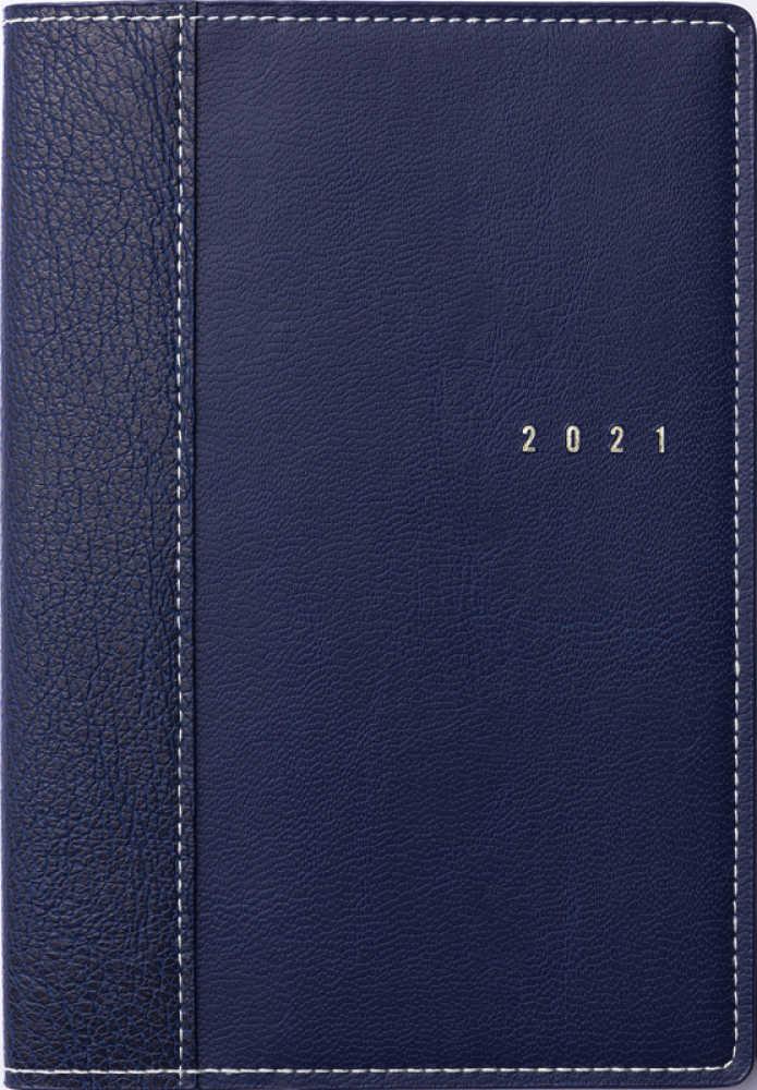 Link to an enlarged image of 351 シャルム1 高橋手帳 2021年版1月始まり ブル−ブラック