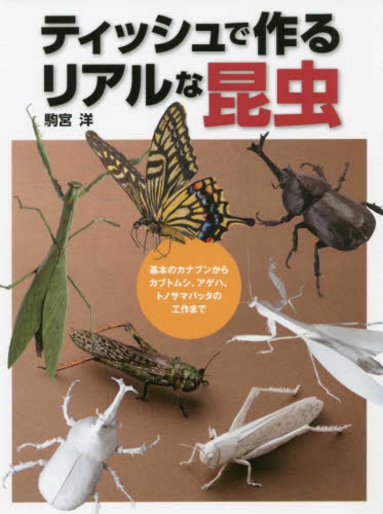 Link to an enlarged image of ティッシュで作るリアルな昆虫-基本のカナブンからカブトムシ、アゲハ、トノサマバッ