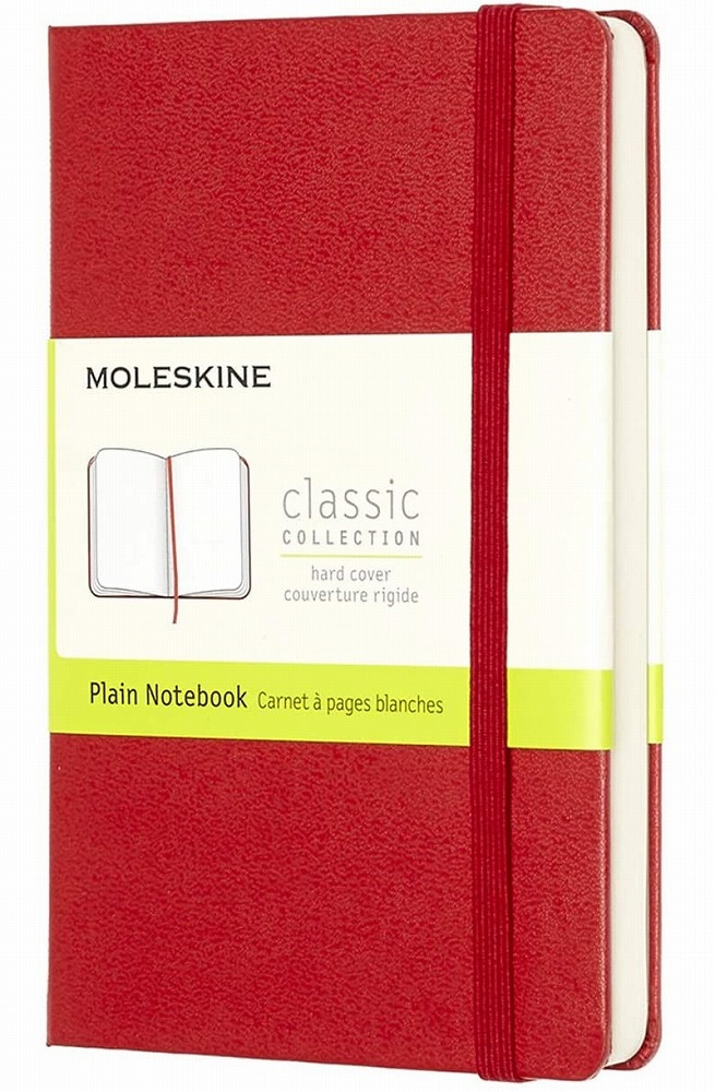Link to an enlarged image of Moleskine Red Plain Notebook (NTB)