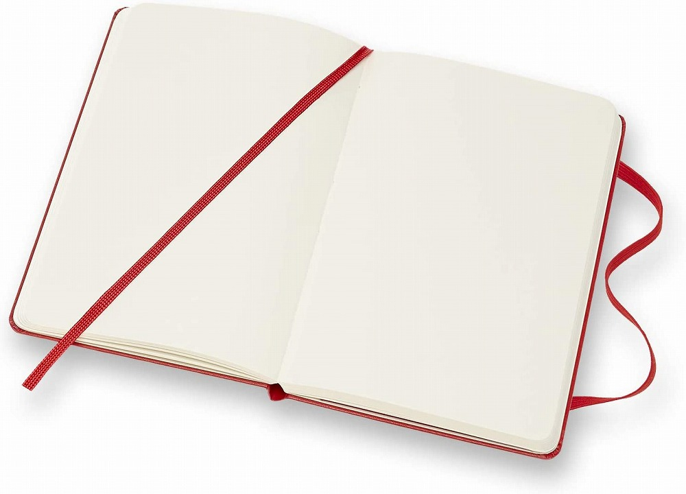 Link to an enlarged 4th image of Moleskine Red Plain Notebook (NTB)