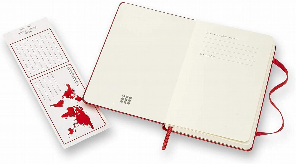 Link to an enlarged 5th image of Moleskine Red Plain Notebook (NTB)