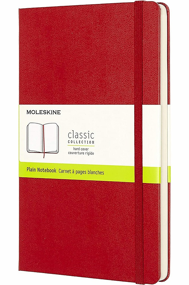 Link to an enlarged image of Moleskine Red Plain Notebook Large (NTB)