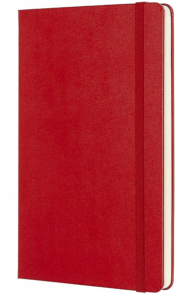 Link to an enlarged 2nd image of Moleskine Red Plain Notebook Large (NTB)