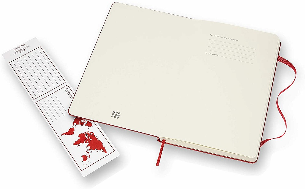 Link to an enlarged 3rd image of Moleskine Red Plain Notebook Large (NTB)