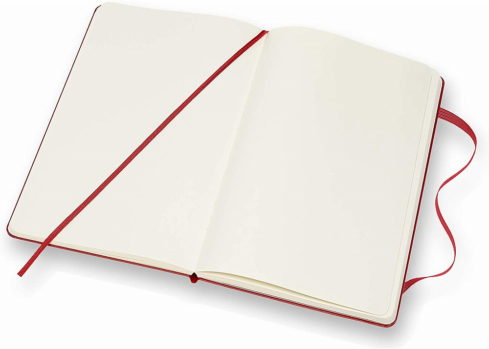 Link to an enlarged 4th image of Moleskine Red Plain Notebook Large (NTB)