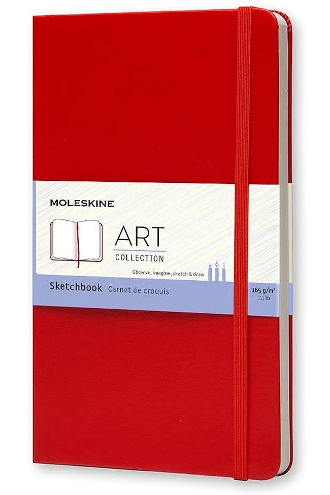 Link to an enlarged image of Moleskine Sketchbook Large, Red (NTB)