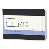 Link to an enlarged image of Moleskine Art Plus Plain, Black Pocket Sketchbook (NTB)