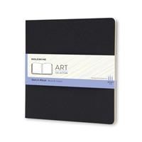 Link to an enlarged image of Moleskine Art Plus Sketchbook, Square, Squared, Black (NTB)