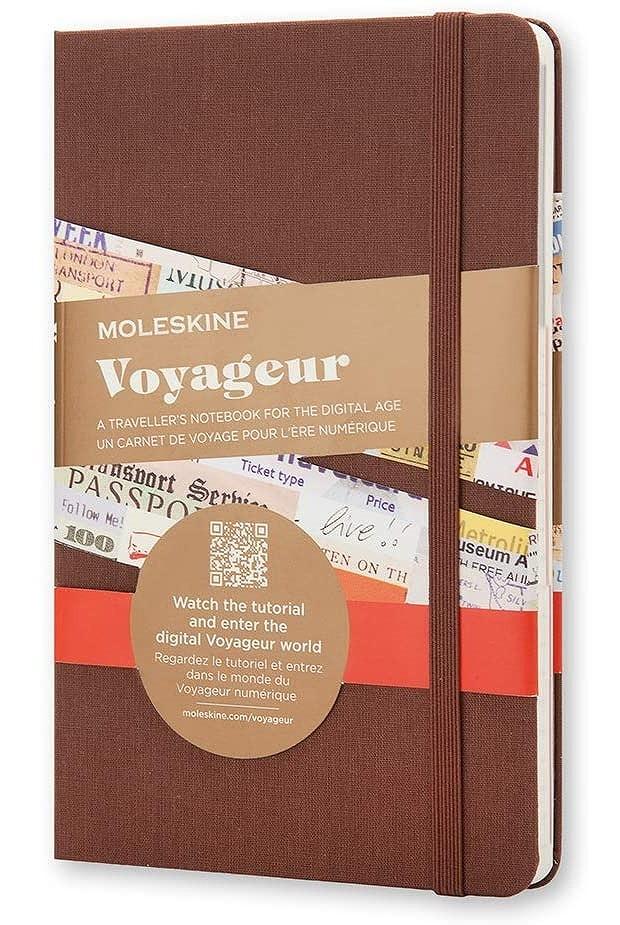 Link to an enlarged image of Moleskine Voyageur Traveller's Notebook, Nutmeg Brown (NTB)