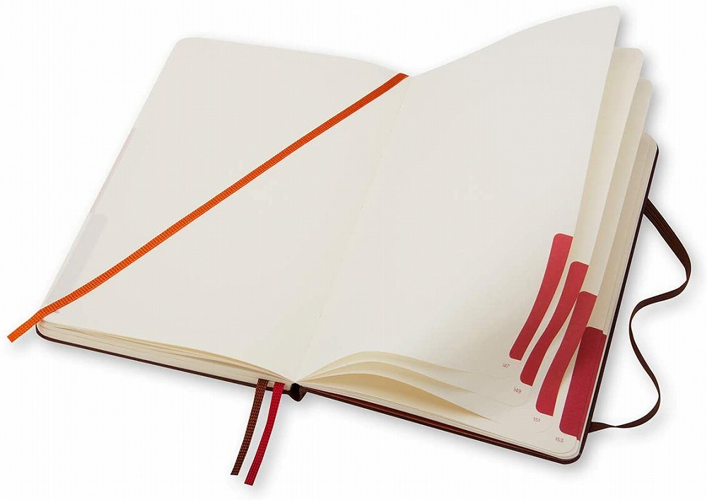Link to an enlarged 5th image of Moleskine Voyageur Traveller's Notebook, Nutmeg Brown (NTB)