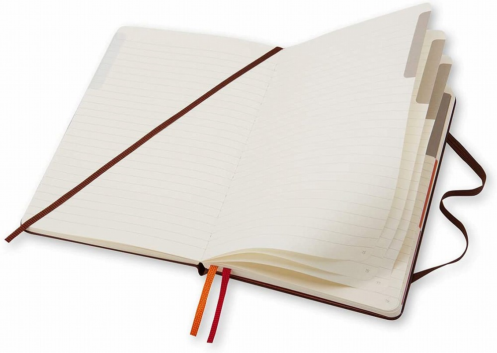 Link to an enlarged 6th image of Moleskine Voyageur Traveller's Notebook, Nutmeg Brown (NTB)