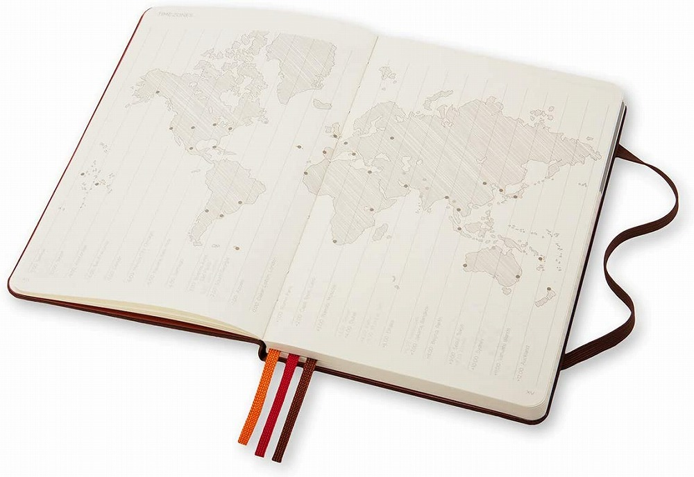 Link to an enlarged 9th image of Moleskine Voyageur Traveller's Notebook, Nutmeg Brown (NTB)