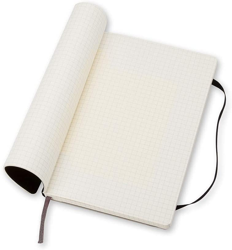 Link to an enlarged 4th image of Moleskine Squared Notebook Large - Soft cover (NTB)
