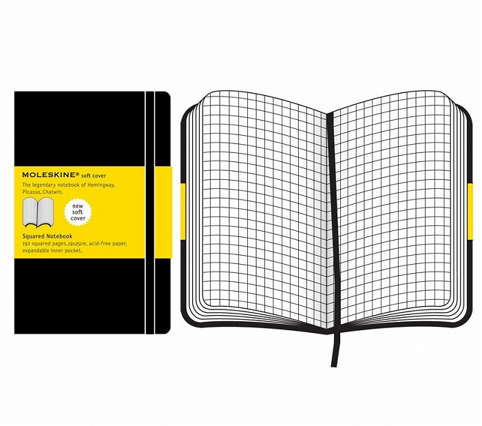 Link to an enlarged 2nd image of Moleskine Squared Notebook Extra Large - Soft cover (NTB)