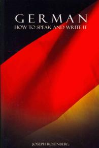 Link to an enlarged image of German : How to Speak and Write It (Bilingual)