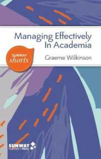 Link to an enlarged image of Managing Effectively in Academia:A Guide to Good Practice For Academic Manager