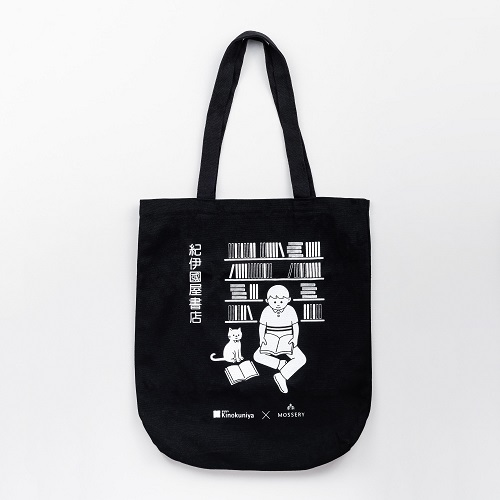 Link to an enlarged image of MOSSERY x KINOKUNIYA 17TH ANNIVERSARY TOTE BAG (CONCEPT+DESIGN+MATERIAL+PRINTING+PACKAGING)