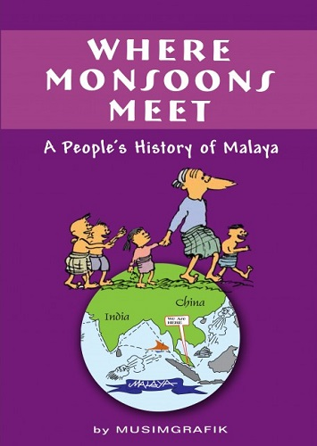 Link to an enlarged image of WHERE MONSOONS MEET:A PEOPLE'S HISTORY