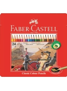 Link to an enlarged image of FC115845 Classic Oil Colour Pencils Tin of 24