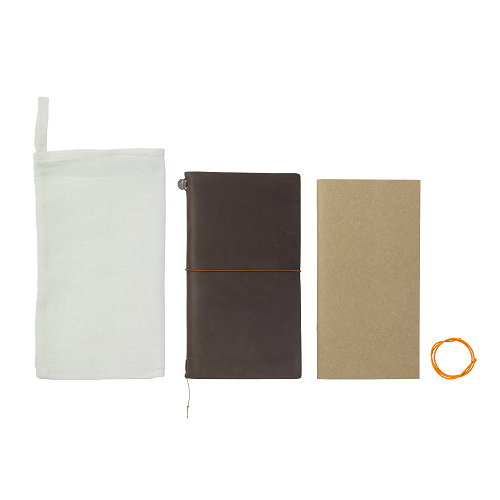 Link to an enlarged 3rd image of TRAVELER'S notebook 棕/Brown (Regular Size)